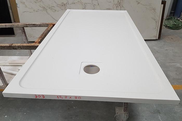 Plato de ducha a medida recién fabricado